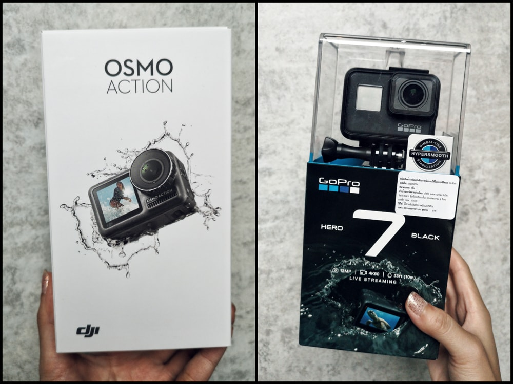 GoPro hero 7 black กับ DJI OSMO Action