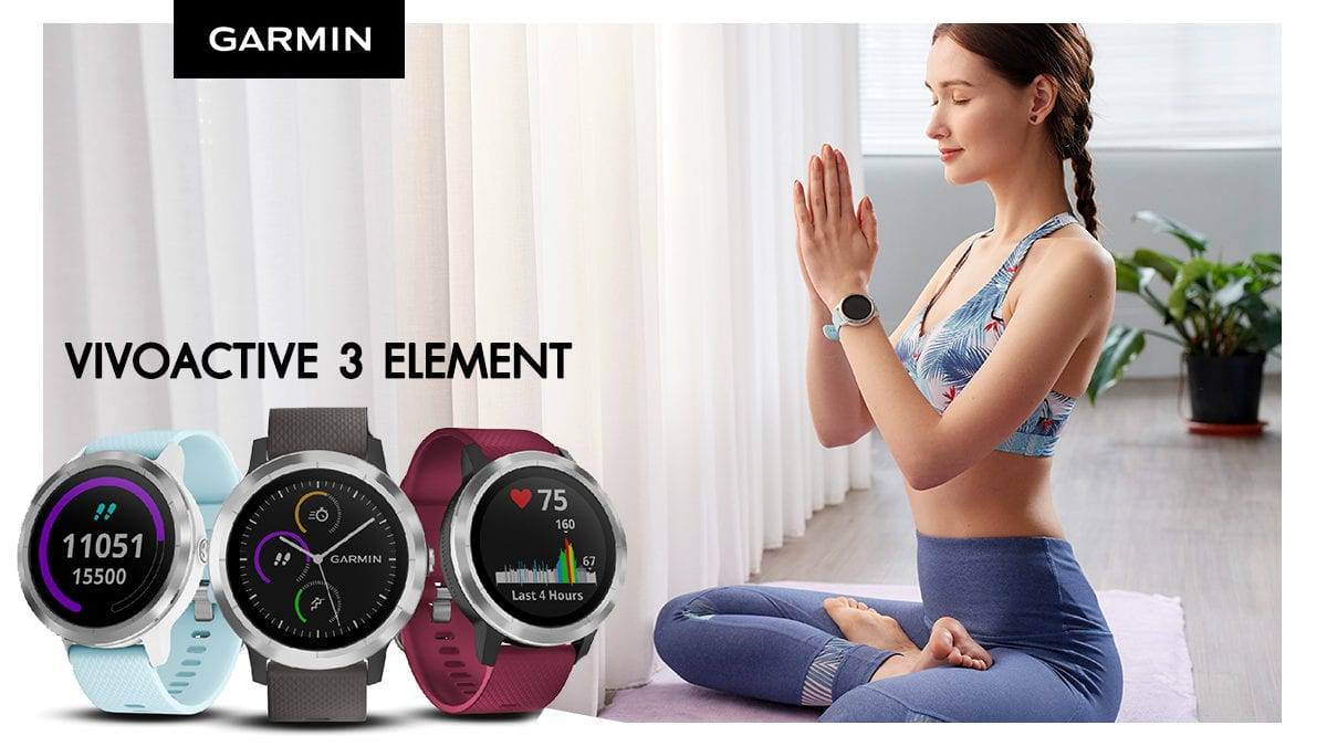 Garmin Vivoactive 3 Element ราคา 8,290 บาท ประกันศูนย์