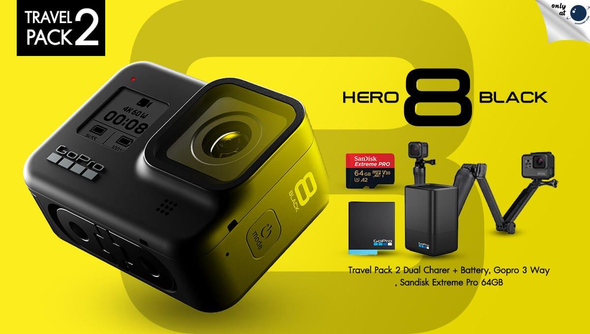 GoPro Hero 8 ชุดท่องเที่ยวสุดคุ้ม Set 2 พิเศษเฉพาะที่ร้าน LnwGadget