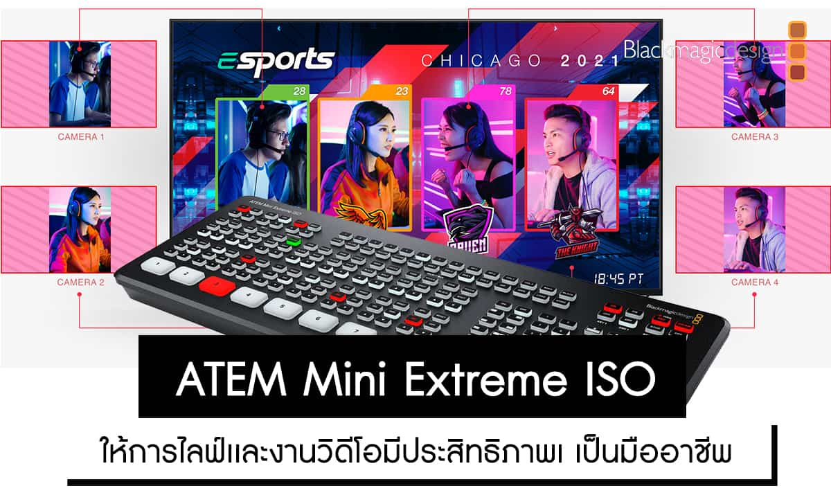 Blackmagic Design ATEM Mini Extreme ISO ราคา 51,700 บาท ประกันศูนย์